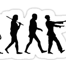 The Walking Dead Inspired Evolution of Zombie Sticker
