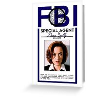 Dana Scully Badge Greeting Card