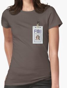 Dana Scully Badge Womens Fitted T-Shirt