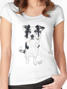 Border Collie Beauty Women's Fitted Scoop T-Shirt