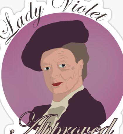 Lady Violet Approved Sticker