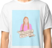 On Wednesdays We Wear Pink Hipster | Pale Blue Classic T-Shirt