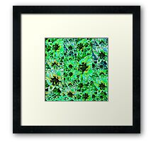 Cataleas Green Fluro Garden Framed Print