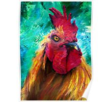 Rooster Colorful Expressions Poster