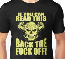 Biker Motorcycle Back Off Unisex T-Shirt