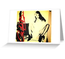 Kate Moss Super Model Greeting Card