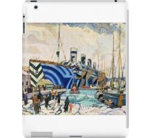 Olympic with Returned Soldiers in dazzle at Halifax, Nova Scotia  iPad Case/Skin