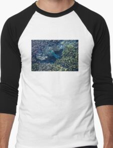 Tropical fishes in the Maldives, Laccadivian Sea Men's Baseball ¾ T-Shirt