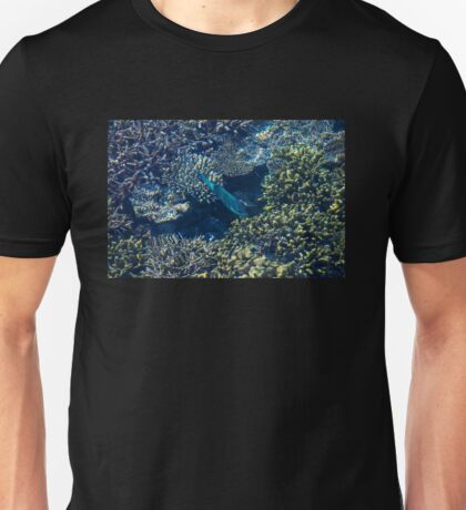 Tropical fishes in the Maldives, Laccadivian Sea Unisex T-Shirt