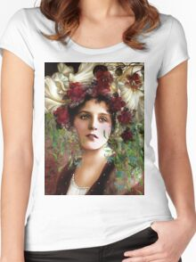 Gypsy Girl Of Autumn Vintage Women's Fitted Scoop T-Shirt