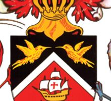 National coat of arms of Trinidad and Tobago Sticker