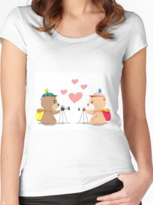 Bear lover. Women's Fitted Scoop T-Shirt