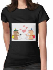 Bear lover. Womens Fitted T-Shirt