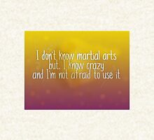 I Don't Know Martial Arts, I Know Crazy Hoodie