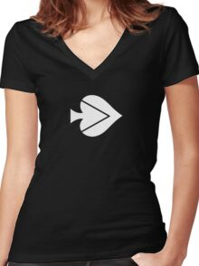 Spade Lovers Women's Fitted V-Neck T-Shirt