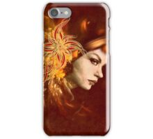 Red Headed Woman Abstract Realism iPhone Case/Skin