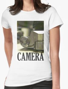 Vintage SLR Film Camera Womens Fitted T-Shirt