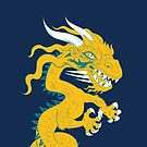 Golden Dragon with Turquoise Style by Dave Stephens