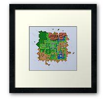 Hyrule Map Light Legend of Zelda ALttP Framed Print