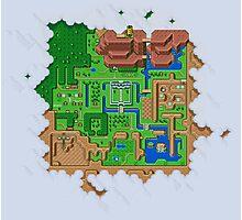 Hyrule Map Light Legend of Zelda ALttP Photographic Print