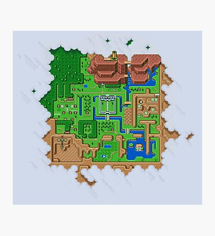 Hyrule Map Light Legend of Zelda ALttP Photographic Print