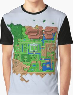 Hyrule Map Light Legend of Zelda ALttP Graphic T-Shirt