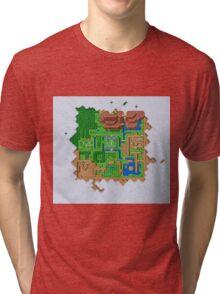 Hyrule Map Light Legend of Zelda ALttP Tri-blend T-Shirt