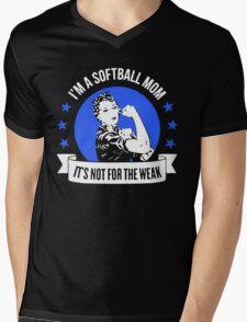 Softball Mom Not for the Weak Mens V-Neck T-Shirt