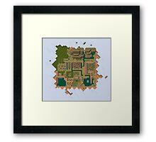 Hyrule Map Dark Legend of Zelda ALttP Framed Print