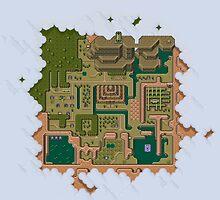 Hyrule Map Dark Legend of Zelda ALttP by kebuenowilly