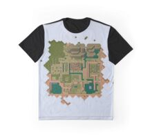 Hyrule Map Dark Legend of Zelda ALttP Graphic T-Shirt