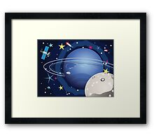 Neptune Planet in the Space 2 Framed Print