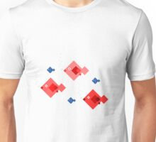 Red and blue fish Unisex T-Shirt