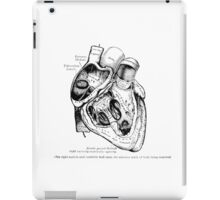 The Heart, right ventricle openned. iPad Case/Skin