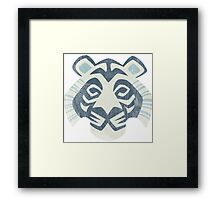 Animal Rainbow White Tiger Framed Print