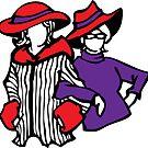 red hat ladies by asyrum