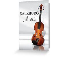 Vienna Austria Violin travel poster Greeting Card