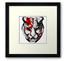 Bloody Tiger Framed Print
