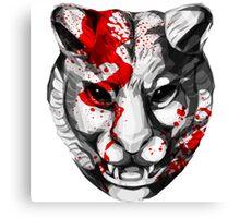 Bloody Tiger Canvas Print