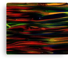 Multi Color Brush Stroke Canvas Print
