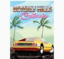 Beverly Hills California retro travel poster Classic T-Shirt