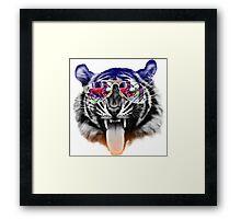 cool tiger Framed Print