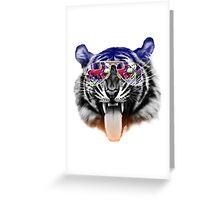 cool tiger Greeting Card