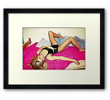 Black and Yellow Swimsuit Framed Print