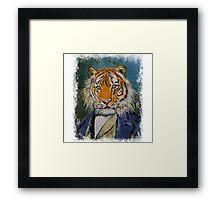 GENTLEMAN TIGER Framed Print