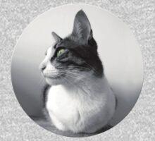 Beautiful Peaceful Cat - Black White Baby Tee