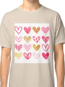 Lovely Hearts Classic T-Shirt