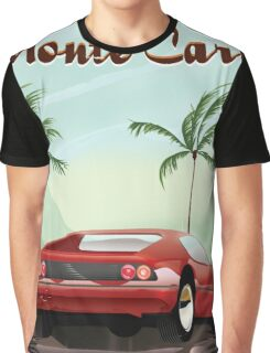 Monte Carlo sports car travel poster Graphic T-Shirt