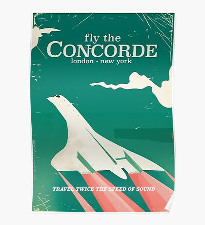 Concorde Vintage Holiday poster  Poster