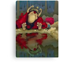 The Girl and the Troll Canvas Print